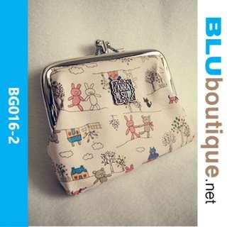 RETRO CUTE FABRIC POUCH BG016-2 *1 piece available only