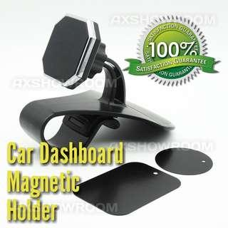 Universal Dashboard Clamp Holder with Strong Magnetic Holder For Mobile Phones Or GPS