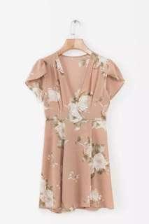 Free delivery- European style Deep V Floral Dress