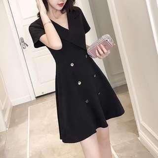 Free delivery- Premium quality Korean style little black dress