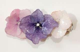 Real flowers hairclip