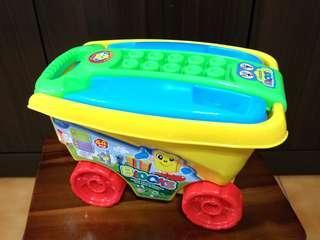 🚚 積木手推車玩具備