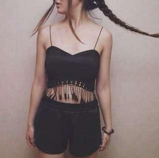 Bustier Crop Top for Raves Festivals Night Out