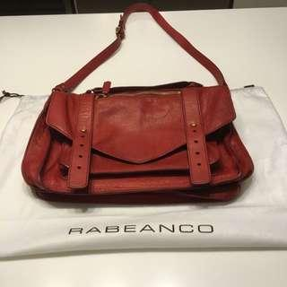 PRICE REDUCED - Rabeanco Calf Leather Red Satchel - Small