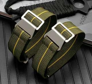 🚚 22mm Parachute watch strap (Green,Yellow)