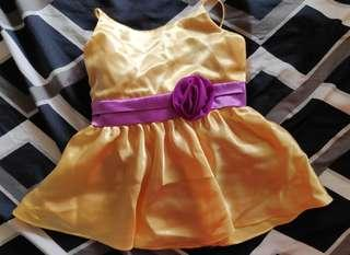 Golden yellow gown for baby