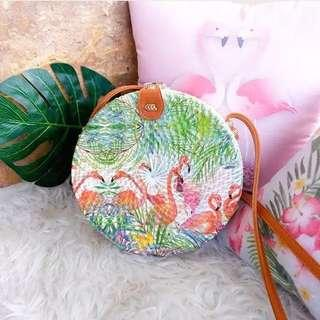 Rattan Bag Flamingo A