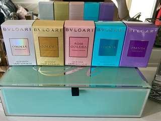 BVLGARI Goldea & Omnia Perfume Minis x 5 - Brand New
