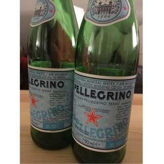 Empty San Pellegrino Glass Bottles (750ml size/Bundle of 15 bottles)