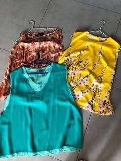 🚚 3 for $10 women's tops assorted