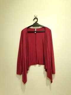 Asymmetrical red cardigan (preloved) #GayaRaya
