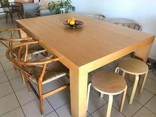 Dining Table 8 seater Veneer Oak Finish