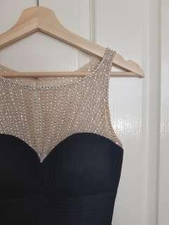 Forever New Black Shimmer Maxi Dress