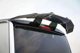 New shipment! Kuhl Racing FRP GT wing for Toyota Hiace with metal stands. ready stock 3 sets