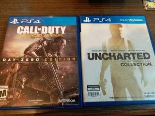 PS4 Unchartered Collection & Call of Duty : Advanced Warfare
