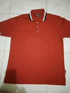Polo Shirt Pria - Red - Treble Clef - XL - #CNY2019