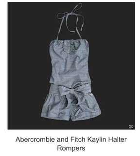 Authentic Abercrombie and fitch Kaylin Halter Romper