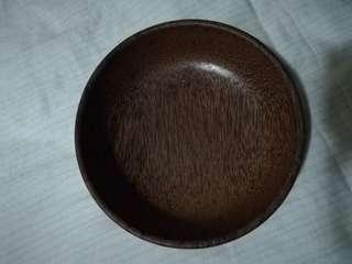 One piece solid wood bowl (solid wood)