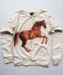 Topshop cream horse print pullover
