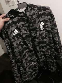 Black Juventus Fc Windbreaker For Mens