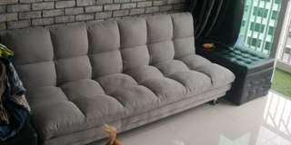 BLMG DAVE SOFABED GREY FABRIC 3 SEATER