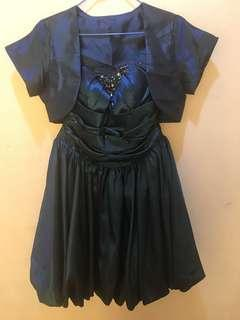 Blue Ball Dress for Prom with shrug