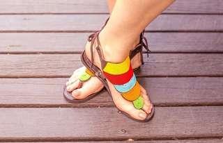Afrix rainbow sandals
