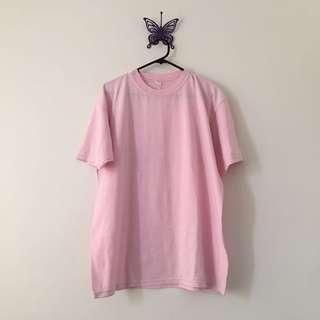 plain baby pink t shirt 👚