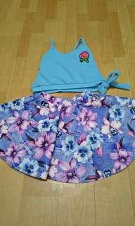 Top amd skirt set