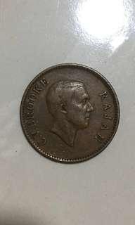 1927   1 cents Sarawak copper coins