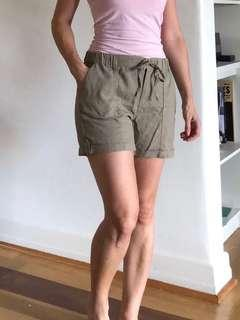 Khaki/light brown drawstring shorts size 8