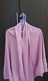 Khimar wolfis non pet dusty pink