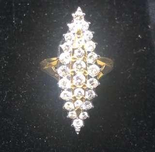 18K Berlian Kana Ring