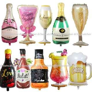 Celebration foil balloons in many designs!