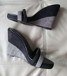 PRICE REDUCED Brand New minimalist wedge double-strap sandals