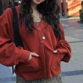 Stylenanda Brown Oversized Cardigan