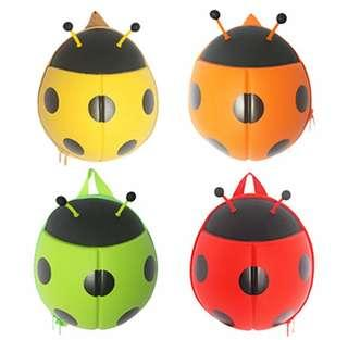 INT'G Cute Ladybird Plush Backpack Girls Boy Children's Bag Ladybug Waterproof