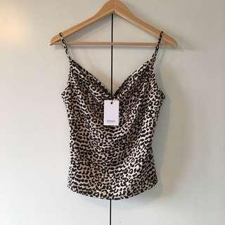cowl neck top size 6 bnwt