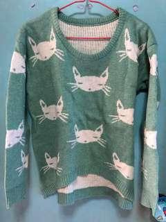 寬鬆衛衣 cat 貓 冷衫 日本 潮流 女裝上衣 外套