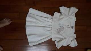 🚚 50%全白洋裝
