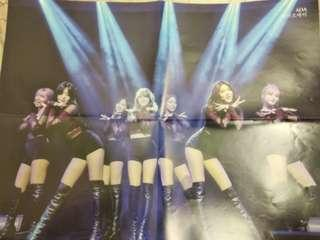 AOA x 4Minute 雙面poster