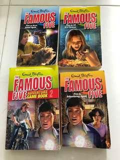 Famous Five Book 2, 5,6 and Adventure Game Book