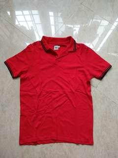 🚚 Asos Red Stretch Polo Tee S BN unworn