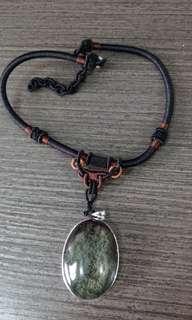 綠幽靈晶石頸鍊