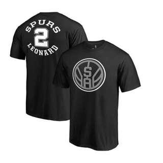 b0cbab8c Men's San Antonio Spurs Kawhi Leonard Fanatics Branded Black Round About  Name & Number ...
