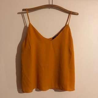 Tangerine fashion nova top