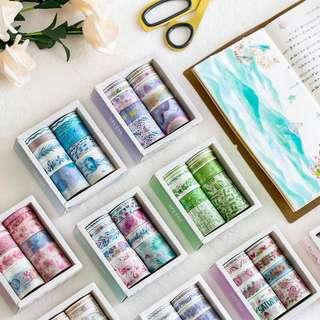 🚚 Instock Washi Tape Set 8 in 1 set | scrapbook| planner | diary | Journel
