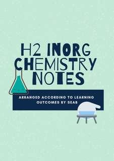 🚚 H2 Inorg Chem Notes