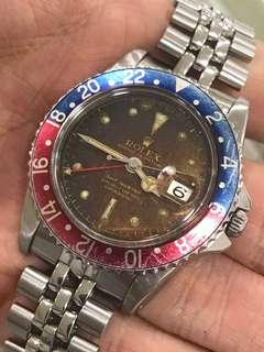Rolex 1675 GMT Master PCG Chapter Ring OCC Tropical dial