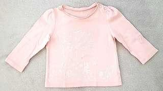 Mothercare baby's long sleeved t-shirt. 6-9 months